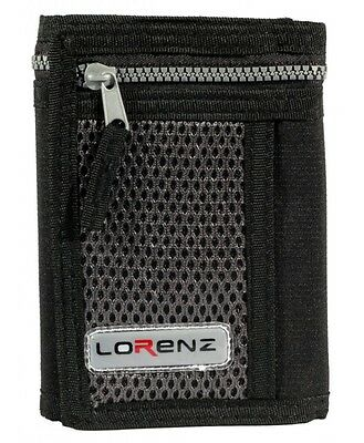 Men's Boy's Lorenz valcro trifold rippa sports wallet with zip in THREE COLOURS