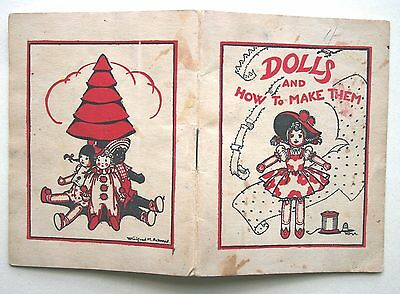 c. 1950 DOLLS AND HOW TO MAKE THEM by Winifred M. Ackroyd RAG DOLLS