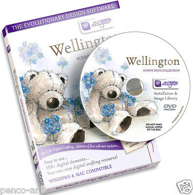 Docrafts scheibe Wellington bär sonnige tage kollektion CD Rom. Digital designer