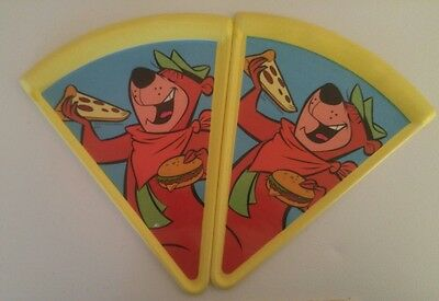 Hanna Barbera Yogi Bear Pizza Plates Plastic Gift Co