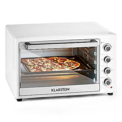 New Electric Oven 100 L 2700 W Stainless Steel Bake Tray Grill Roast Timer White