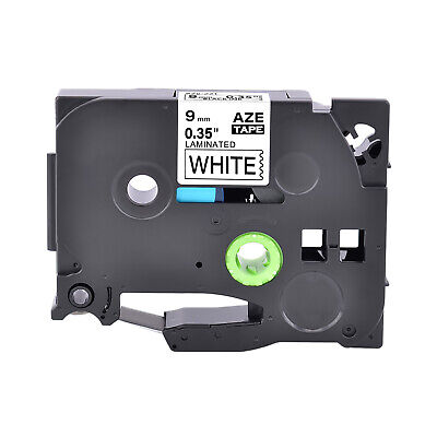 1PK 9mm Black on White Label Tape For Brother TZ 221 TZe221 P-Touch PT-2730 D600