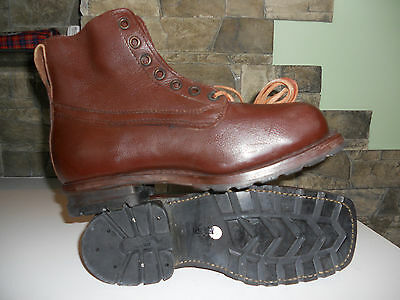 WW2 Swedish Army Work Combat Boots RETRO VINTAGE Brand New ORIGINAL GIFT, BROWN