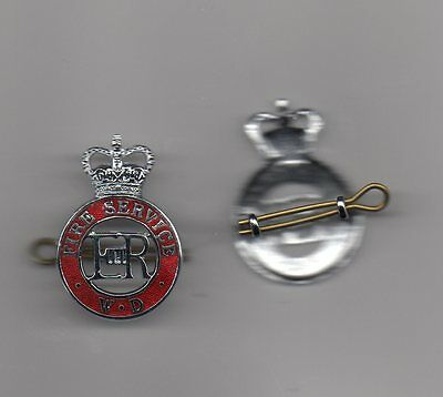 Fire Service War Department Officers Enamelled Cap Badge