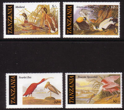 XG-A383 BIRDS - Tanzania, 1986 Ibis, Mallard... Block Of 4 MNH set