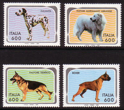 XG-A468 ITALY - Dogs, 1994 Boxer... 4 Stamps MNH Set