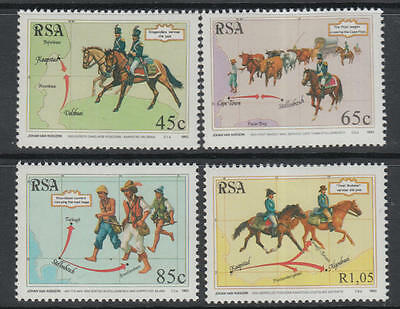 XG-A079 SOUTH AFRICA IND - Explorers, 1993 Horses, 4 Values MNH Set