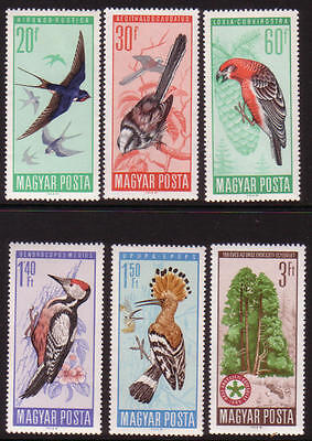 XG-A281 BIRDS - Hungary, 1966 6 Values MNH Set