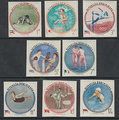 XG-B903 OLYMPIC GAMES - Dominican Rep., 1960 Australia Melbourne Imperf. MNH Set