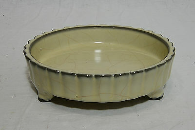 Chinese  Celadon  Tripod  Crackle  Porcelain  Brush  Washer   1