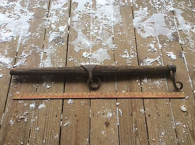 Antique Vintage Horse / Ox / Mule Single Tree , Yoke , Wood & Metal , Shabby