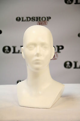 Hard Plastic Mannequin Head Dummy WHITE Hat GAS MASK Display