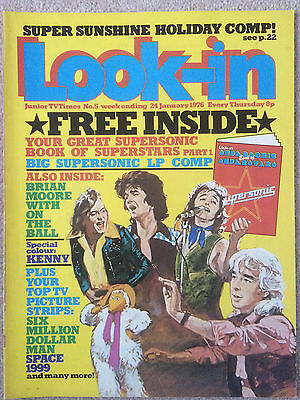 LOOK IN MAGAZINE 24 JAN 1976 #5  THE SUPERSONIC BOOK OF SUPERSTARS    Pt1