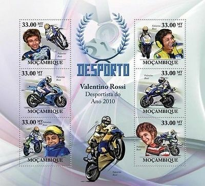 MOZAMBIQUE MOTORCYCLING BIKE MOTORCYCLE RACING VALENTINO ROSSI MOZ10227A s