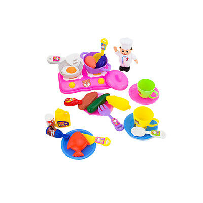 Kids Children Kitchen Food Cooking Role Play Pretend Toy Xmas Gift Set of 31