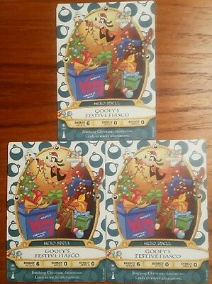 Sorcerers Of The Magic Kingdom 3 card lot Goofy Party Card 10P