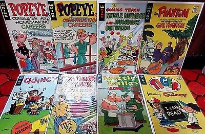 Comics Reading Libraries 1,2,4-11,15 Popeye Educational 5,6,8,15 +Comics Teach 3