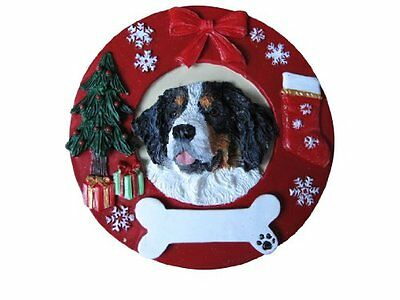 Bernese Mountain Dog Ornament Personalized and Hand Painted Measures 3.75 ...NEW
