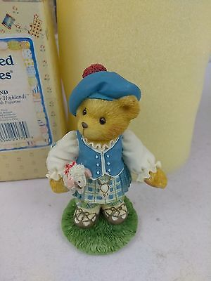 """Collectible Cherished Teddies 202452 SCOTLAND """"Our Love is in the Highlands"""" (1)"""