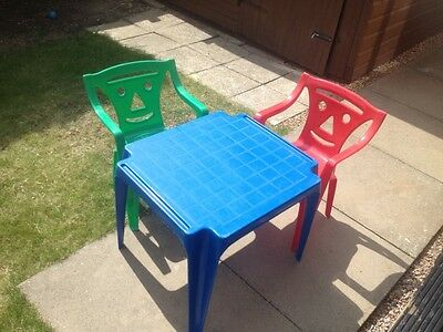 young childs table and two chairs