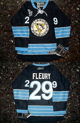NHL HOCKEY MAGLIA Marc-Andre Fleury #29 Pittsburgh Penguins KIDS Jersey L-XL