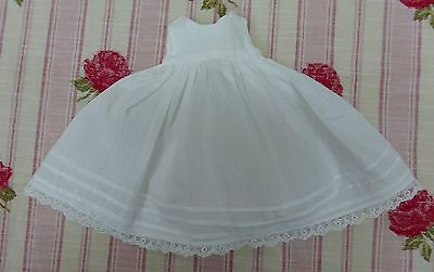 Small Dolls Dress Petticoat Lace Trim Early Mid Century Outfit Clothes Antique