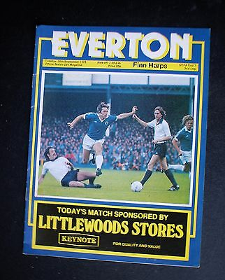 Everton Vs Finn Harps 1976 - 1977 UEFA CUP Sept 26th