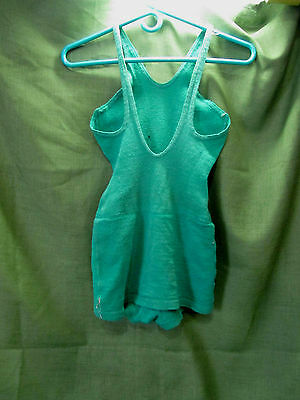 Vtg Green Wool Fitrite National Recovery Admin Women's Swim Suit 1933 To 1935