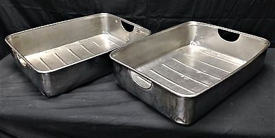 Commercial Stainless Steel Roasting Pan LOT OF 2
