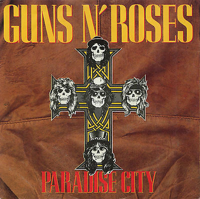 "Ex/ex Guns N' Roses Paradise City 12"" Vinyl Record P/s + 2 Tracks"