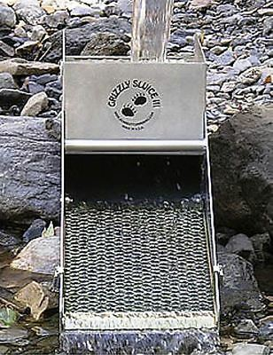 GRIZZLY SLUICE III 3 Out-of-stream Gold Gem Prospecting box Bear Bottom Mining