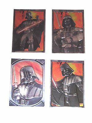 2005 STAR WARS REVENGE OF SITH EMBOSSED INSERT 4 CARD LOT! Sculpted DARTH VADER!