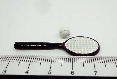 1:12 Scale Tennis Racket & Ball Dolls House ,Nursery , Sports Set ,Accessory