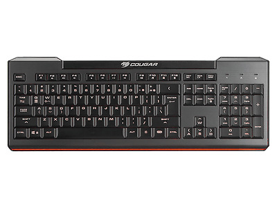 Cougar 200K Scissor Gaming Keyboard,Anti-Ghosting Keys,7 Colour Backlight *UK*