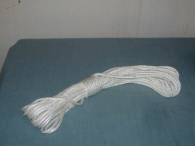 1/4 inch x 60 feet double braid polyester rope White. Flag pole Halyards sail