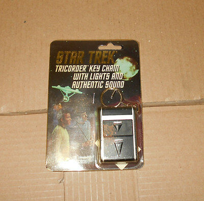 Star Trek TOS Electronic SCIENCE TRICORDER Keychain - NOS 1995 *UNUSED*