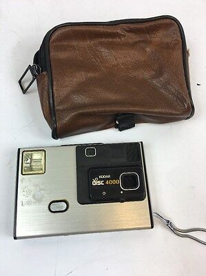 Vintage Kodak Disk 4000 Camera With Manual And Case