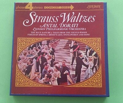 London Symphony Orchestra Dorati Conducts Strauss Waltzes 4 Track  Reel To Reel