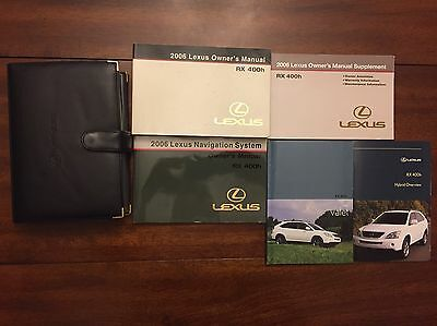 2006 Lexus RX400h Owners Manual Set With Leather Lexus Case Fast Free Shipping