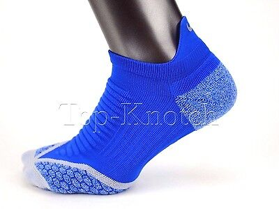 NIKE ELITE Golf / Athletic Socks Cushion No Show Tab Blue Grey SG0643 Mens 6-7.5