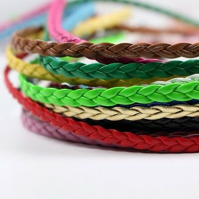 R008 Braided Pu Leather Straps Doll Clothes Sewing Craft Supply Blythe Barbie