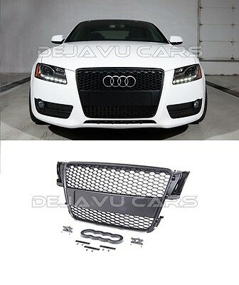 RS5 Grill Audi A5 S5 Sline 2007-2012 DTM RS Kühlergrill Wabengrill Frontgrill #8