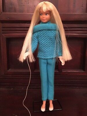 Vintage Barbie Skipper Doll & Original Outdoor Casuals Outfit.