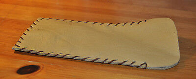 Cream/Brown Soft Leather Pouch Glasses Case