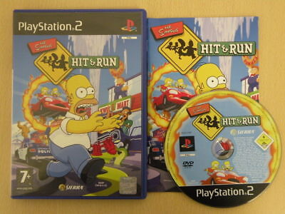 ps2 THE SIMPSONS HIT And RUN - Great condition comes with BOOKLET -
