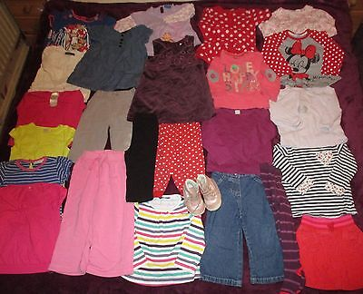 Baby Girl Clothes Bundle 12-24 Months Tops Dresses Boots Leggings Trousers Etc