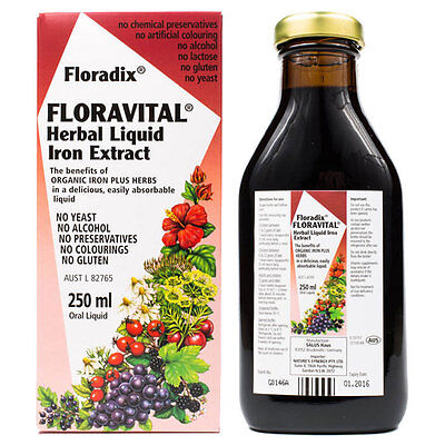 Floradix Floravital Yeast And Gluten Free - 250ml Bottle