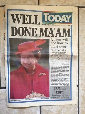 Queens 60th Birthday Monday April 21st Today Newspaper