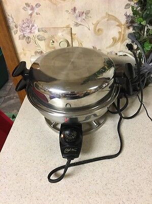 """Chef's Ware 11"""" Stainless Steel Electric Skillet W/Dome Lid Rare Works"""