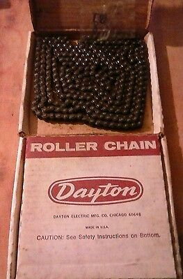 """Lot Of Two Nos Dayton Roller Chain. #35 Riv. 3/8"""" Pitch 10Ft.2W092."""
